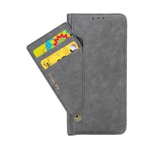 Image 2 - 양면 카드 홀더 자기 플립 북 스탠드 럭셔리 PU 가죽 지갑 케이스 화웨이 메이트 40 P40 P30 프로 P20 라이트 P20 프로 커버