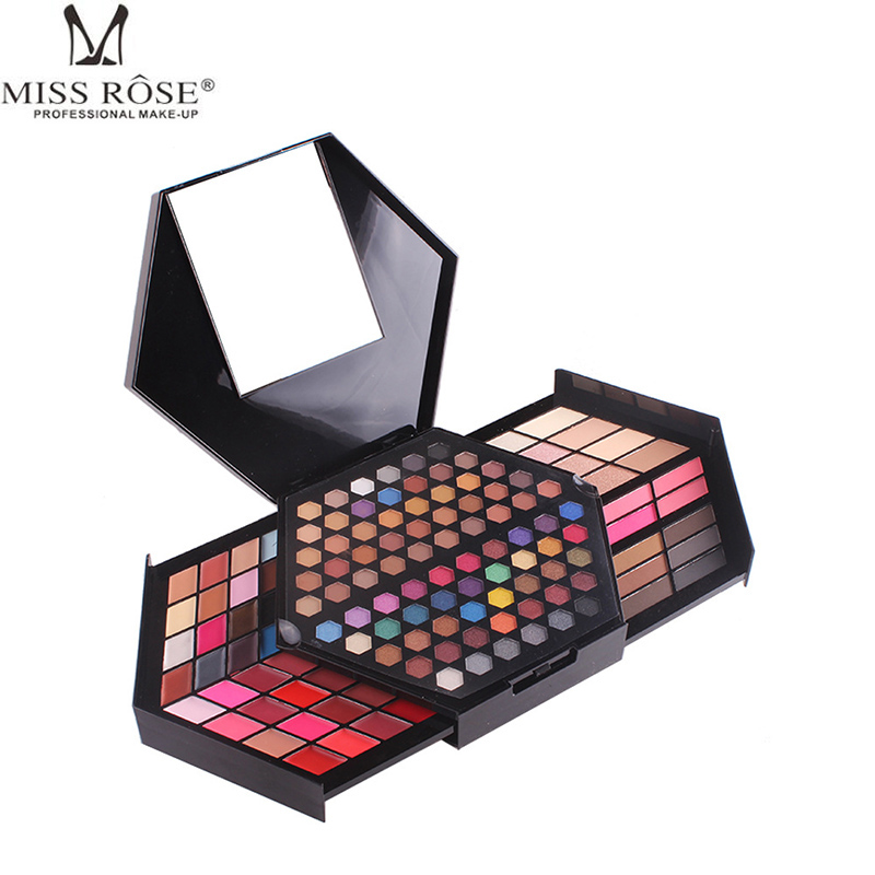Miss Rose Cosmetic Eyeshadow Makeup Palette Diamond Shaped Shiny Matte Eye Shadow Concealer Powder Collection Make Up Set Kit miss rose professional mult color make up palette set hot flower makeup collection 7002 150y