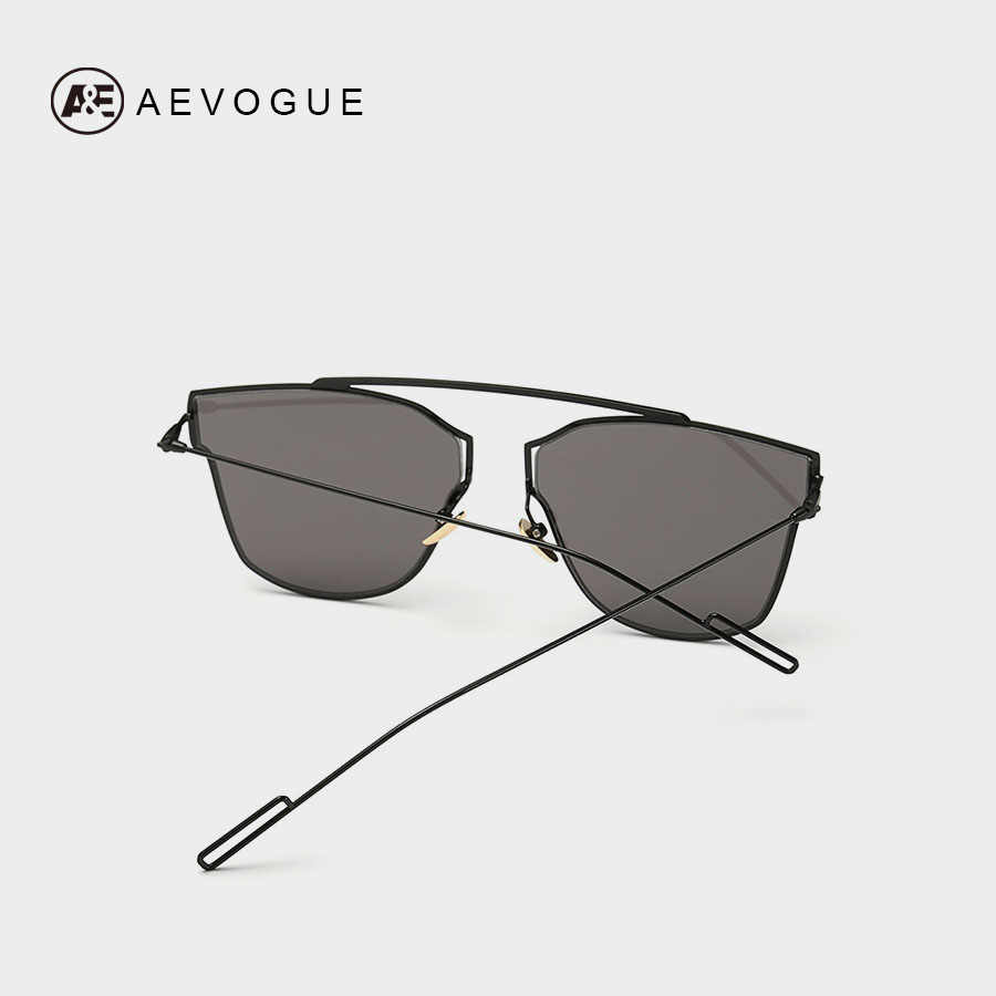 5506407a5f12 ... AEVOGUE Women's Sunglasses Metal Frame Reflective Coating Mirror Flat  Panel Lens Brand Designer Sun Glasses Oculos ...