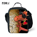 Portable Insulated Thermal Lunch Box Carry Tote Storage Bag Cool Dinosar Printing Lunch Bag for School Kids Picnic Food Bag