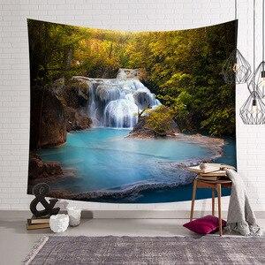 Image 4 - CAMMITEVER Natural Scenic Trees Bridge Tapestry Wall Hanging Landscape Wall Tapestries Mandala Bohemian Throw