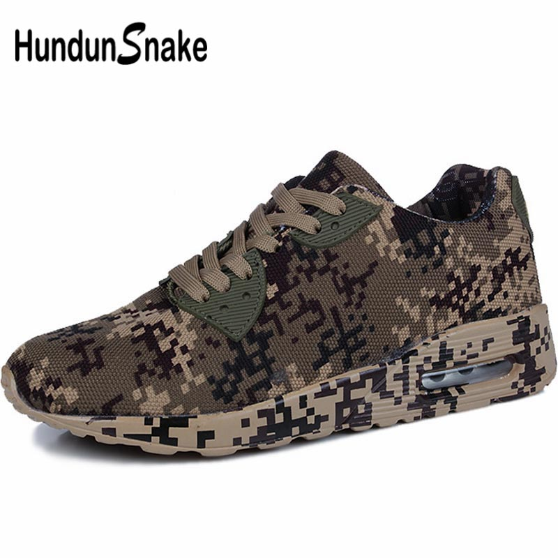 Hundunsnake Breathable Running Shoes Men Sport Shoes Sports Sneakers Male Shoes Summer Training Camouflage Trainers Brown B-032