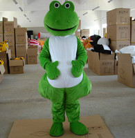 2019 Hot Sale Frog Mascot Costume Free Shipping Halloween Cartoon for Birthday Party Funning Dress Carnival Mascot Costume