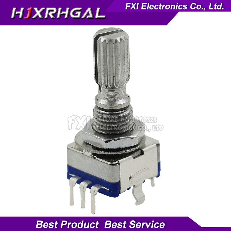 5PCS Plum Handle 20mm Rotary Encoder Coding Switch / EC11 / Digital Potentiometer With Switch 5 Pin