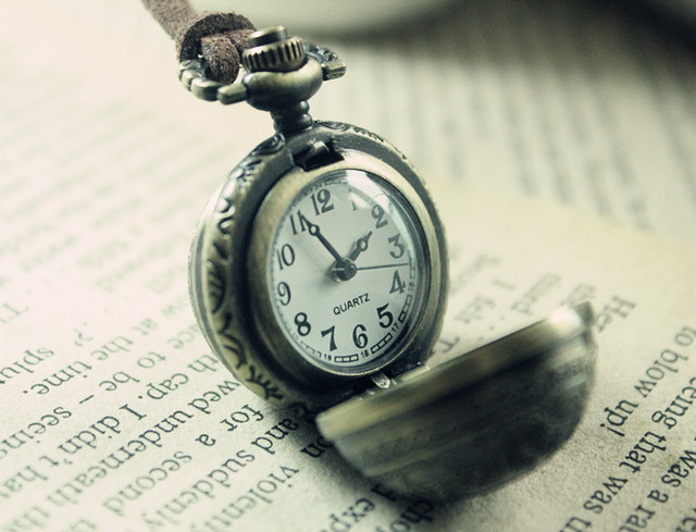Lovers birthday gift nostalgic vintage globe exquisite pocket watch long necklace male female necklace