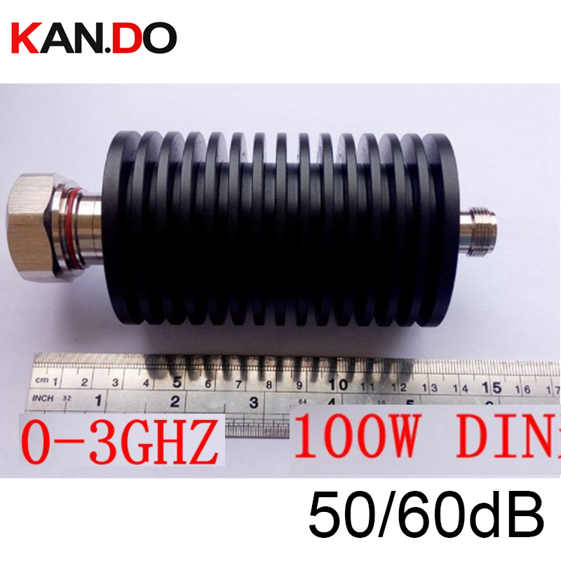 DIN 100W RF attenuator communication converter DC-3G 50 / 60DB radio attenuation 3Ghz feeder RF COAXIAL jack DIN 7/16 CONNECTORDIN 100W RF attenuator communication converter DC-3G 50 / 60DB radio attenuation 3Ghz feeder RF COAXIAL jack DIN 7/16 CONNECTOR