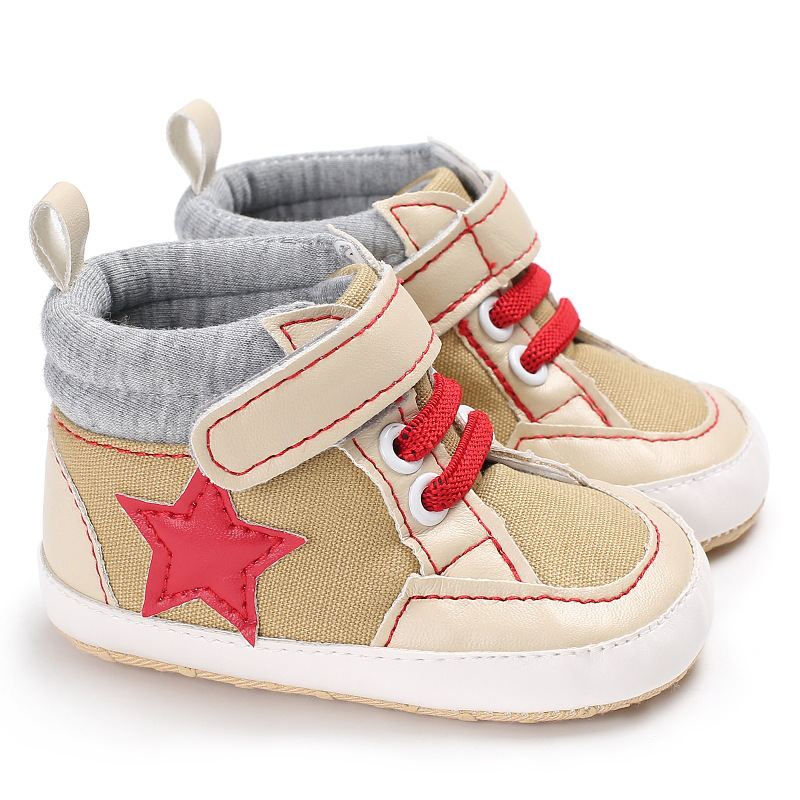 940bd9fd992f Toddler Baby Shoes Soft sole Lace Up Baby Moccasins First Walkers Patchwork  Infant Newborn Boots Canvas Shoes-in First Walkers from Mother & Kids on ...