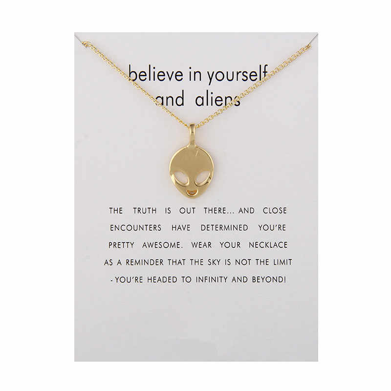 Fashion Jewelry Believe In Yourself And Aliens Necklace Pendant For Women