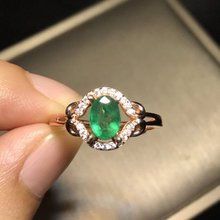 New Jewelry Qi Xuan_Fashion Jewelry_Colombia Green Stone Fashion Rings_S925 Solid Silver Woman Rings_Factory Directly Sales
