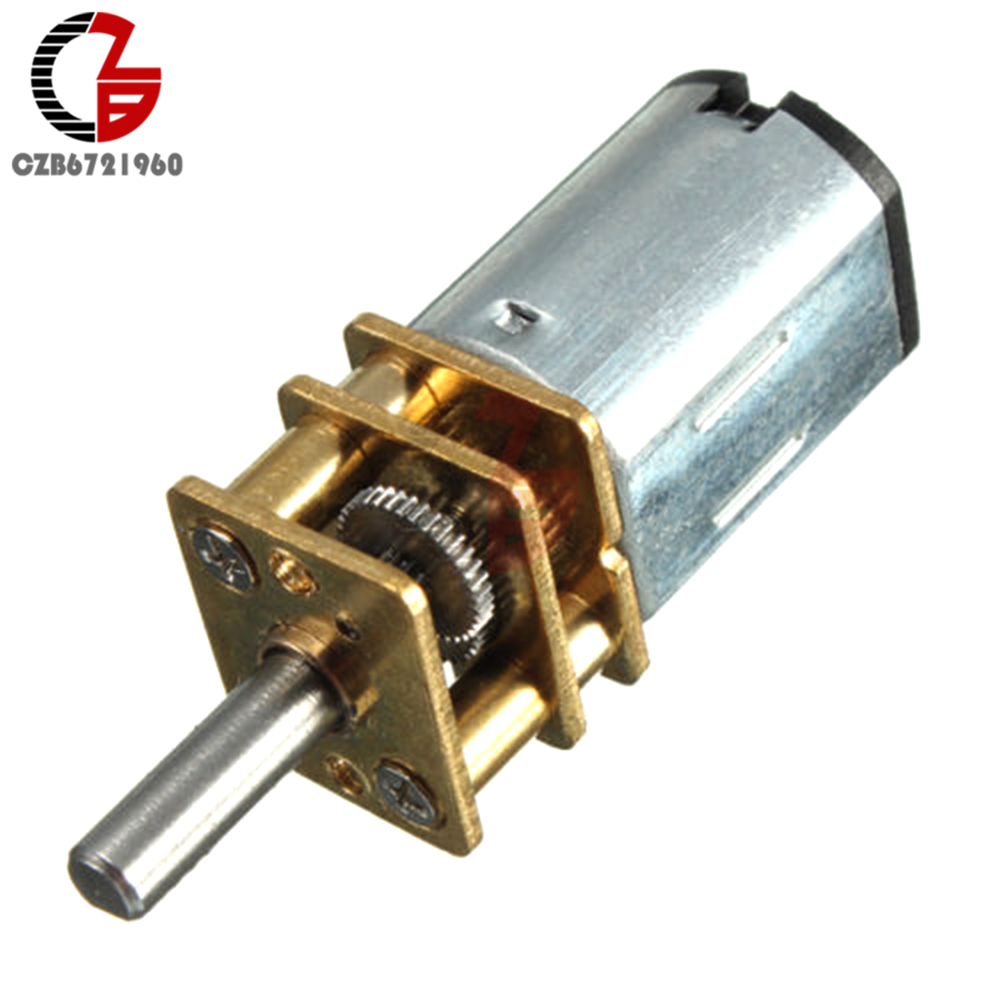 30/300/600RPM <font><b>Gear</b></font> Motor DC 6V 12V Mini <font><b>Metal</b></font> DC <font><b>Gear</b></font> Motor with Gearwheel Shaft Diameter <font><b>N20</b></font> for Toy DIY image