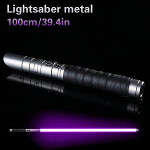 Hot Star War Cosplay 100cm Lightsaber Sword Flashing Luke Electronic Light Up Toy Sky Light Saber Toy Birthday Christmas Gifts