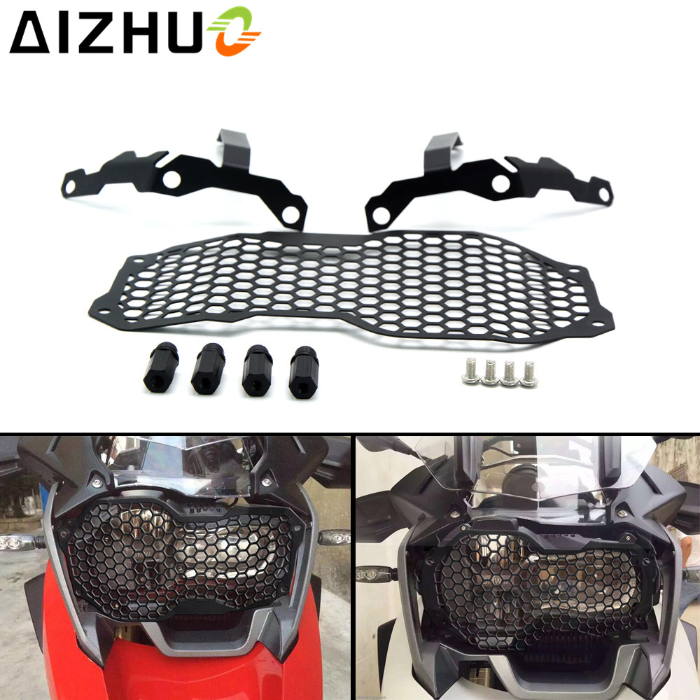 Motorcycle Headlight Guard Grill Front Lamp Protective Guard Stainless Steel Head Light Front Light Cover For BMW R1200GS ADV r1200gs motorcycle headlight grill guard cover protector for bmw r 1200 gs r1200gs adv adventure r 1200gs 2012 2016