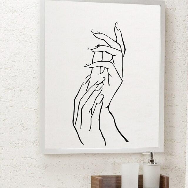 Modern Applaud Hands Nails Salon Bar Decorative Wall Stickers Home ...