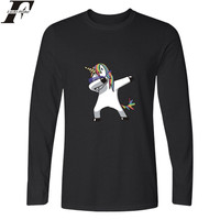 LUCKYFRIDAYF Funny Aminal Long Sleeve T Shirt Women Kawaii Cartoon Print Horse Tshirt Women Cotton Casual