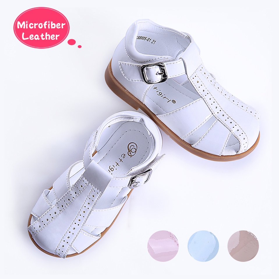 Pettigirl British Style Baby Boys Girls Sandals Microfiber Leather Kids Sandals Flat School Girls Boys Shoes Without Shoe Box