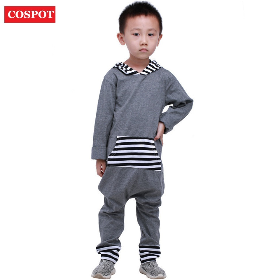 COSPOT Baby Boys Autumn Romper with Hooded Newborn Cotton Winter Jumpsuit Infant Outfits Boy Fashion Pajamas 2017 New Arrive 30D new arrival boy costumes rompers cotton newborn infant baby boys romper jumpsuit sunsuit clothes outfits