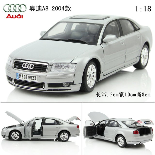 Audi Cars A8 Old Luxury Alloy Car Models Exquisite Model