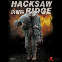 RealTS Meng 1:35 Hacksaw Ridge Medic Battlefield Rescue 2 Resin Figures Kit #HS 008R