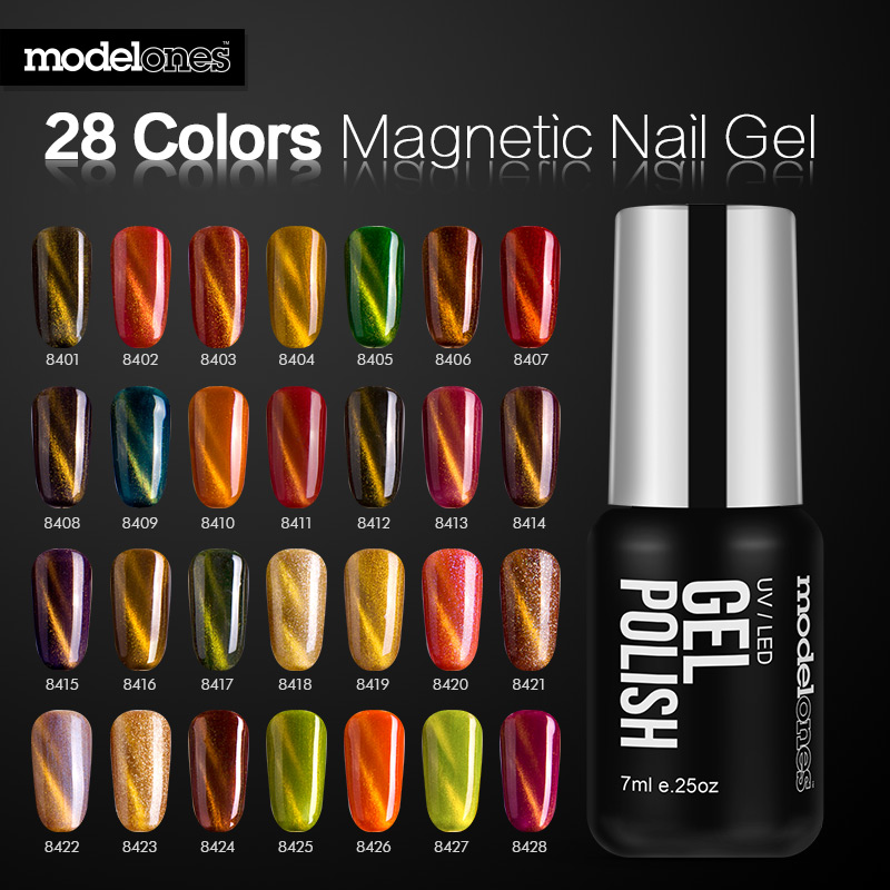 Modelones Shiny Cat Eyes Nail Gel Polish High Quality UV Magnetic Magic Effect Led Nail Gel Varnish Soak Off UV Gel Nail Glue