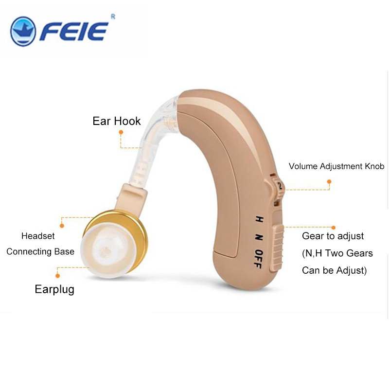 Cheap Rechargeable Hearing Aid USB Headphone Deafness Medical Ear Sound Machine C 109 for severe Elderly