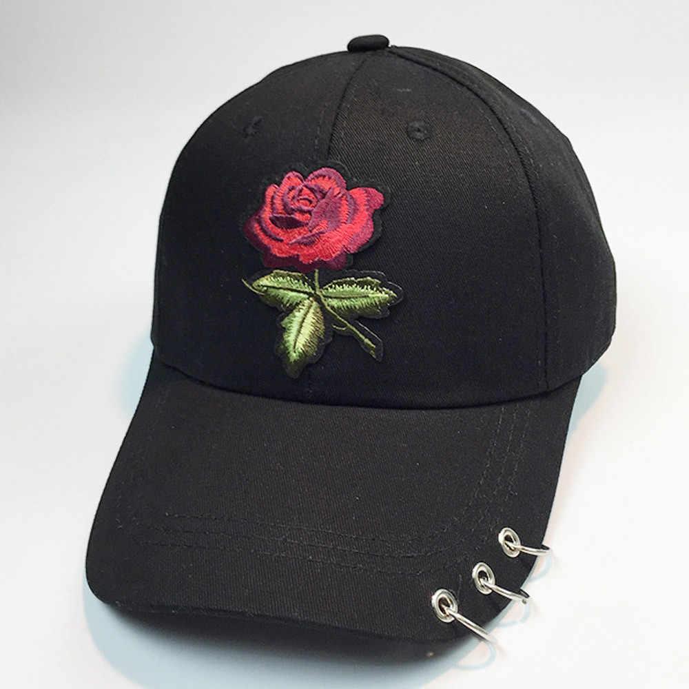 2019 Moda Boné de Beisebol Das Mulheres Dos Homens Subiu de Impressão Camuflagem Escalada Ao Ar Livre Chapéu de Dança Hip Hop Caps Chapéus Ajustáveis FFE22