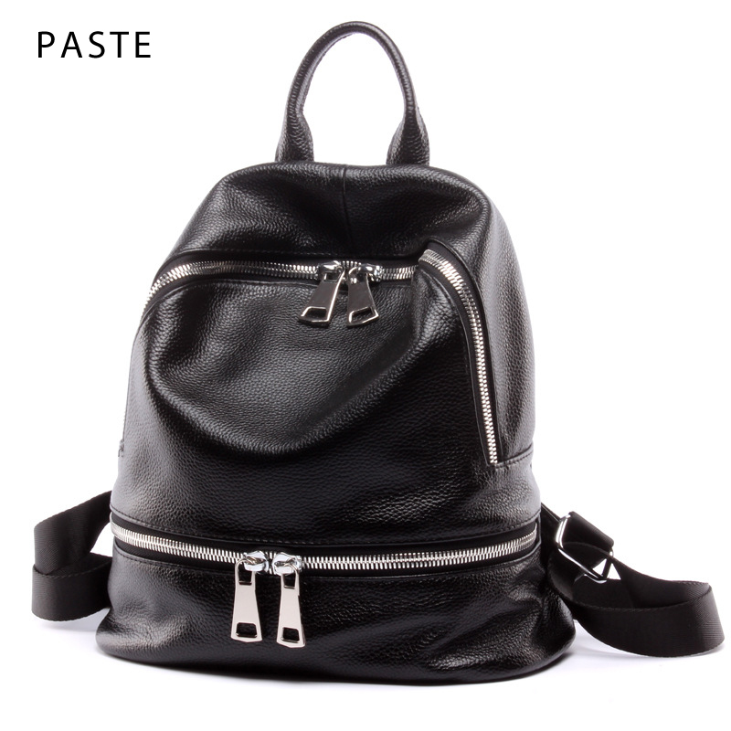 2019 Winter Large Capacity Women s Backpack Genuine Cow Leather Ladies School Bag for Girl Travel