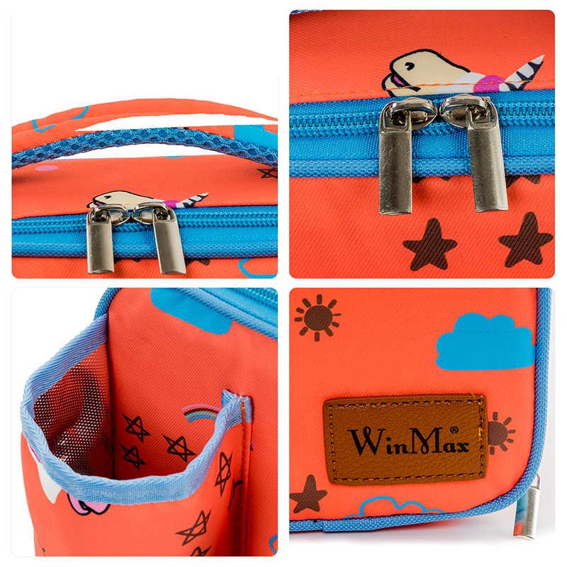 Winmax мультфильм единорог Печать Детская сумка для обеда милый кот школа еда Изолированная изоляция детская коробка для фруктов Студенческая посуда сумка