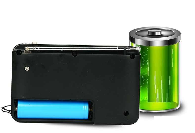 Pocket Radio FM Radio Ontvanger Mini Draagbare Oplaadbare Radio Ontvanger Speaker Ondersteuning USB Tf-kaart Muziek Mp3-speler