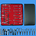 16Pcs Piercing Forceps clamp sterilized 316 stainless steel piercing tools set Free shipping