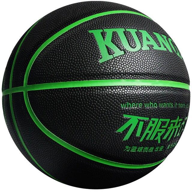 Kuangmi Fresco Gioco di Strada Allenatore di Basket Shooting Sporting Combattimento Serie PU Palla Da Basket Formato Ufficiale 7 Outdoor Indoor