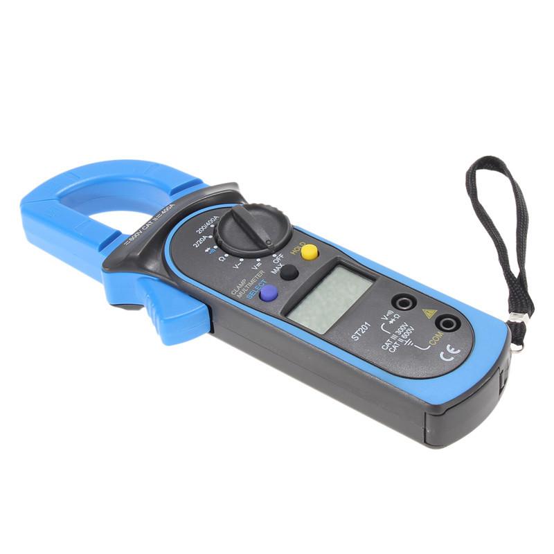 Digital Auto Range Clamp Multimeter Tester Meter DMM AC DC Volt Ohm Digital Clamp Multimeters ST201