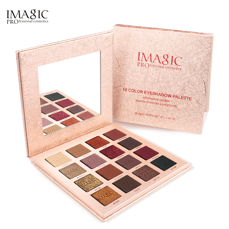 New Pink Pop 16 Colors Eyeshadow Matte Shimmer Glitter Easy To Wear Eye Shadow Palette Long-lasting Eye Shadow Highly Pigmented Eye Shadow Beauty Essentials