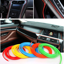 5 Meter Car Side Rein PVC decorative tape Auto dash panel trim strip automotive center stack Side moulding decoration strip