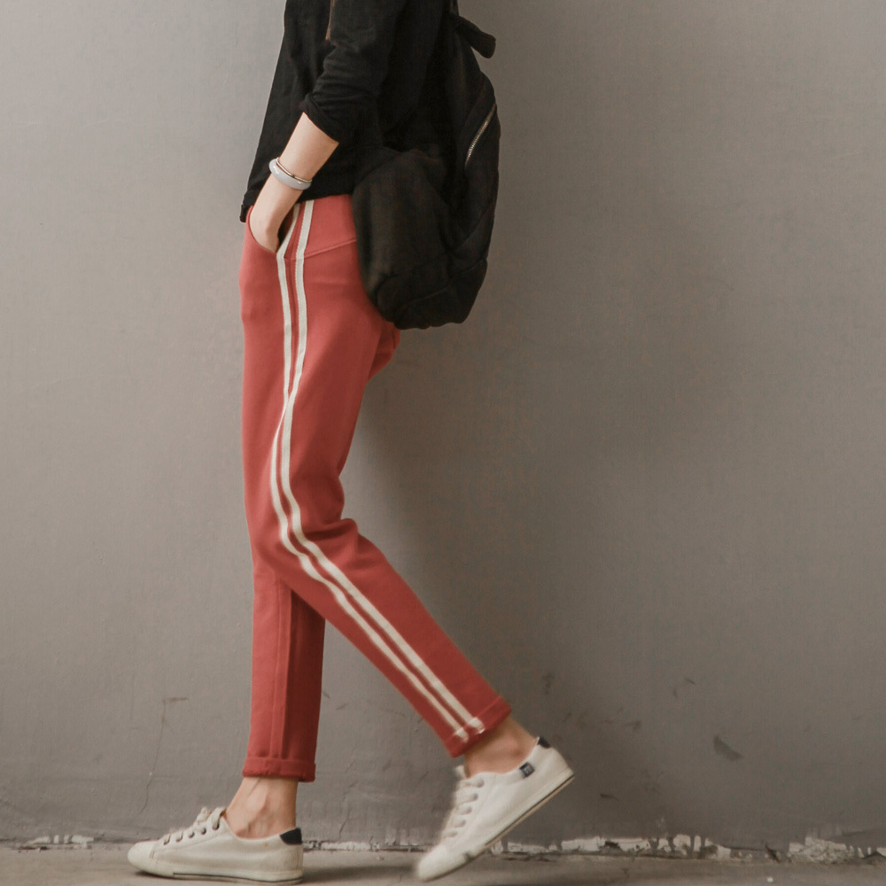 runback Selfdom Store runback 2017 Autumn Cotton Stretch Pants Elastic Waist Knitted Casual Loose Knitted Trousers For Women Harem Pantalones Mujer