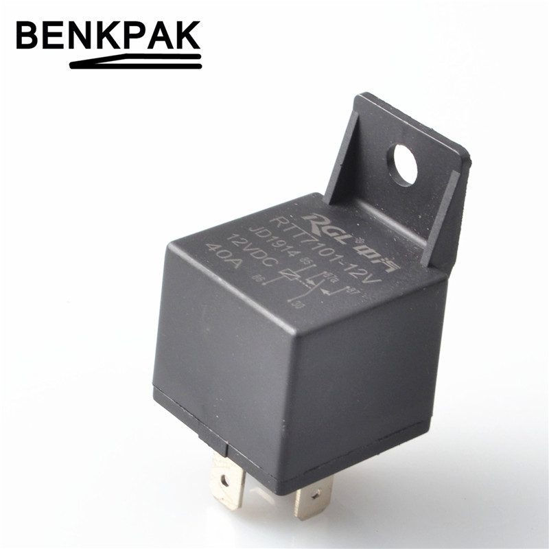 benkpak 40a automotive car auto relay 5 pins 12v 24v no nc