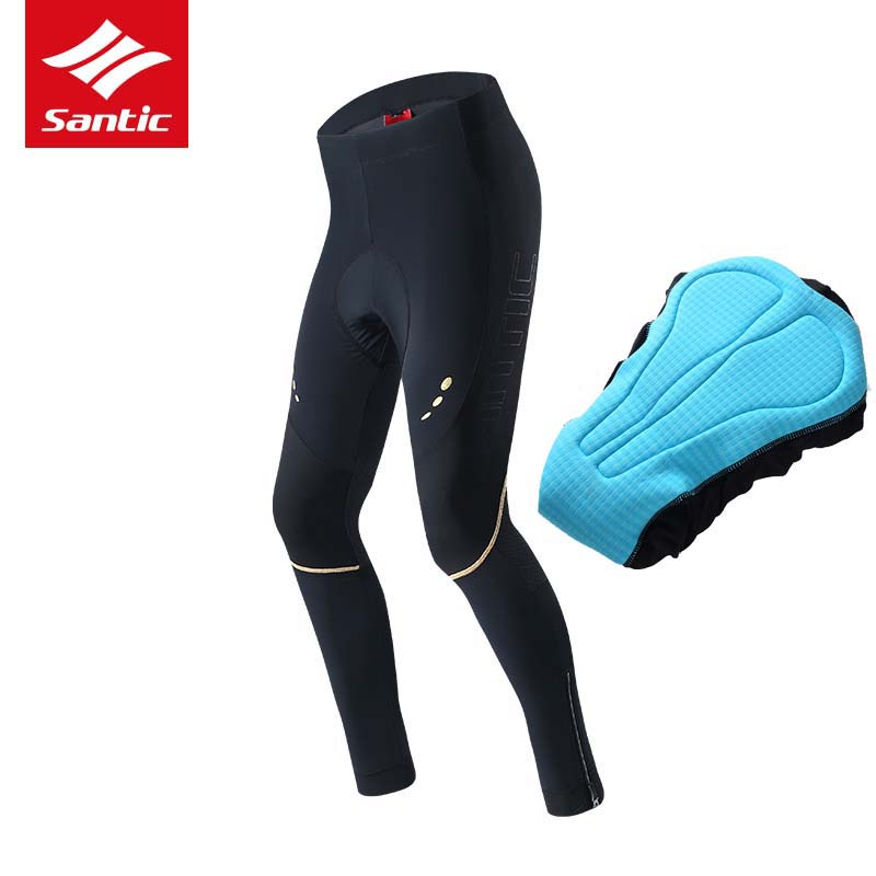 Santic Cycling Pants Men 4D Padded Compression Breathable for Long Distance Rides Road Bike Pants Bicycle Trousers Ciclismo