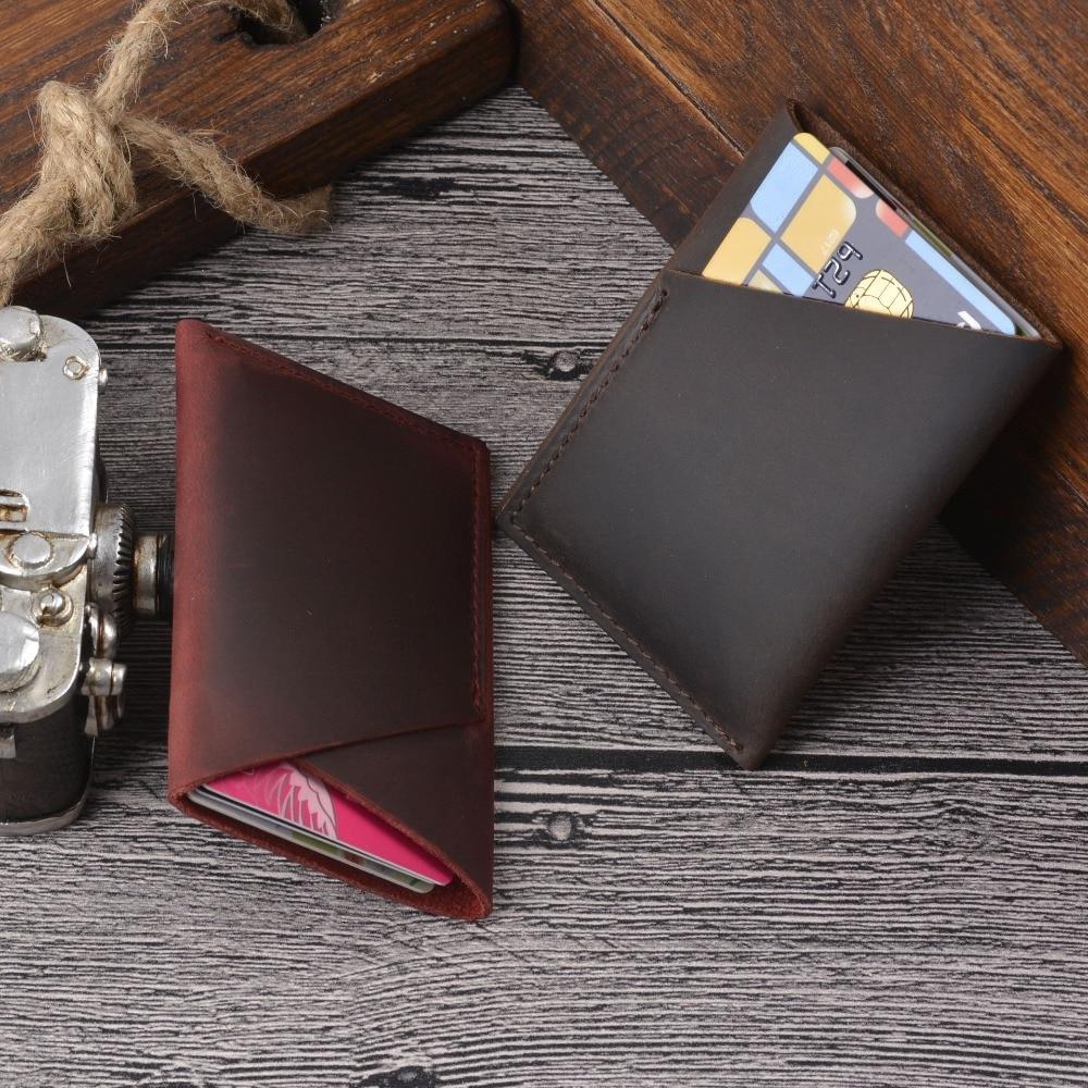 Мужской кожаный бумажник SIKU, чехол ручной работы с отделением для id карт