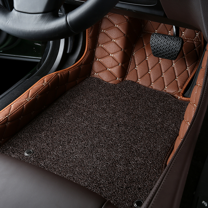 AutoDecorun Customized Made Car Floor Mats For Ford Explorer Edge F150 Mat PVC Leather Carpet Sets Styling Accessories In From