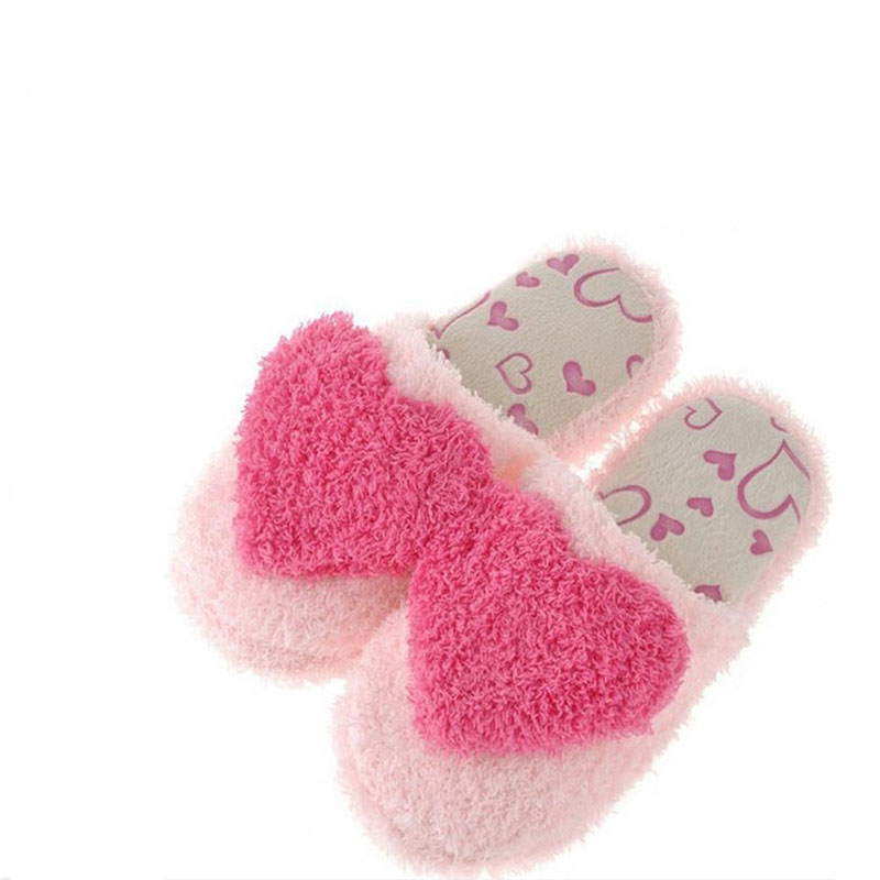 New hot sell 2017 winter fashion and lovely big heart cotton slippers female skid that occupy the home warm cotton slippers 2017 of the latest fashion have a lovely the hat of the ear lovely naughty lady s hat women s warm and beautiful style