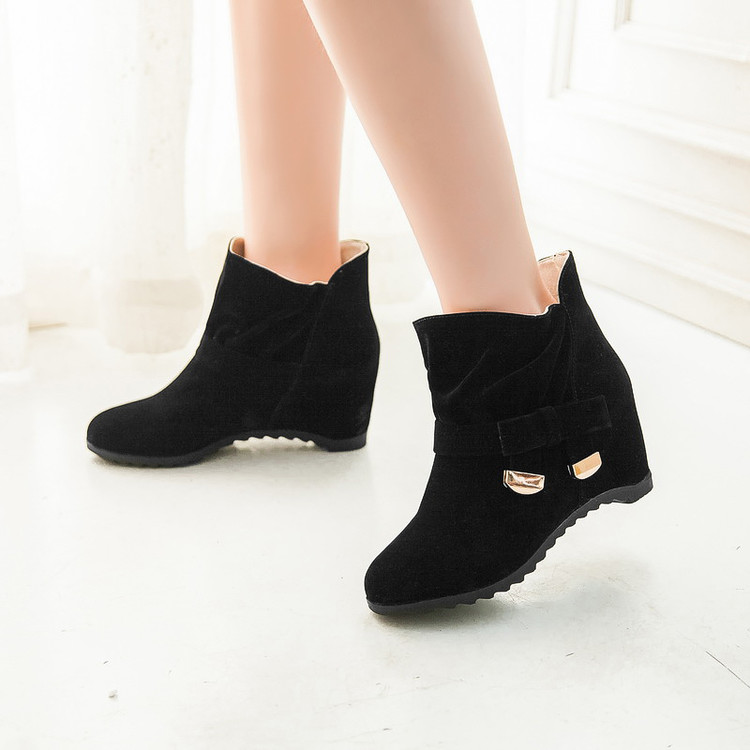 Big size 34-43 New Round Toe Buckle Boots for Women Sexy Ankle Boots  heels Fashion warm Winter Spring Autumn Casual Shoes  x-4 new sexy spring autumn big button decoration spring autumn women shoes black high heels boots platform ankle boots size 34 40