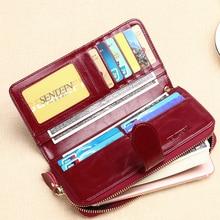 Heißer Verkauf Brieftasche Marke Geldbörse Split Leder Frauen Geldbörse Brieftasche Weibliche Kartenhalter frauen handtasche