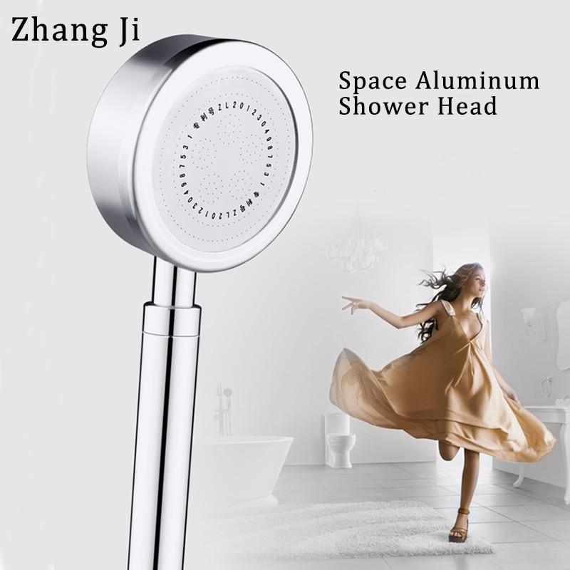 Zhang Ji Top Aluminum Super High Pressure ShowerHead Water Saving Bathroom Technical Thermal Insulation Rainfall Shower Head 6cm