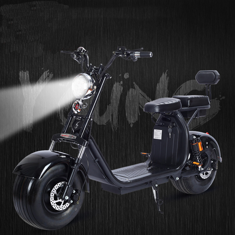 1500 w 60 v Électrique Moto Citycoco Double Lithium Batterie De Voiture De la Mode Simple Opération