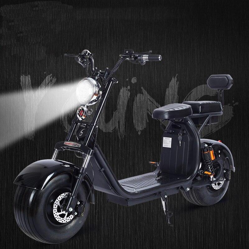 1500 w 60 v Moto Elettrica Citycoco Doppia Batteria Al Litio Dell'automobile di Modo di Funzionamento Semplice