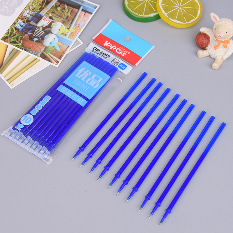 20 Pcs/set Hot Sale Erasable Pen Refills Blue And Black Ink A Magical Writing Gel Pen Refills