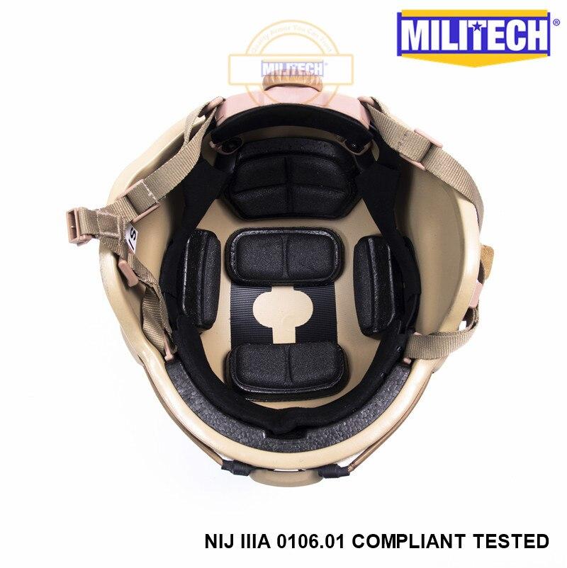 Image 5 - MILITECH Desert Tan DE MICH NIJ level IIIA 3A Tactical Bulletproof Aramid Helmet ACH ARC OCC Dial Liner Aramid Ballistic Helmetbulletproof ballistichelmet achhelmet helmet -