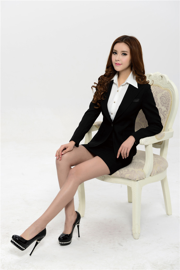 Elegant Black Fashion Slim 2015 Femininos Professional
