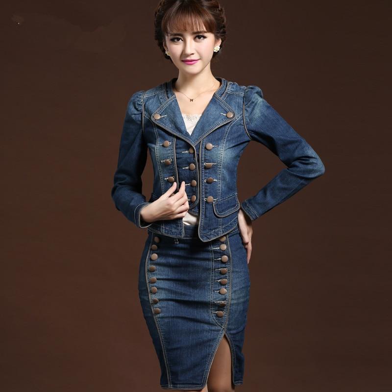 Denim Skirt Suits - Dress Ala
