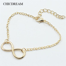 HOT Little infinity Anklet Bracelet Gold Color Women Girl Lover Barefoot 8 Anklet Fashion Femme Foot Chain Barefoot Jewelry