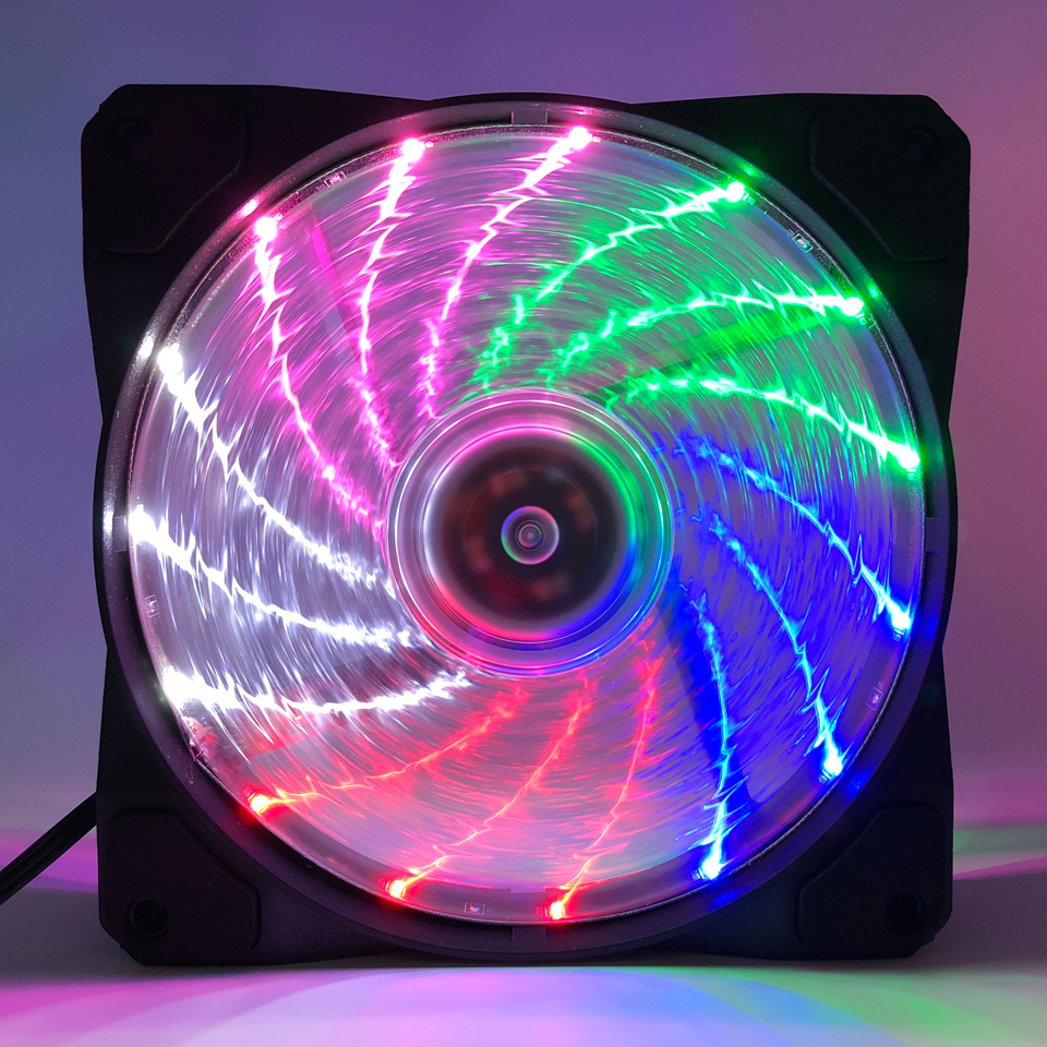 TOP F12025 <font><b>120mm</b></font> PC Cooling <font><b>Fan</b></font> Quiet RGB <font><b>Fan</b></font> Cooler Desktop <font><b>Fan</b></font> Connector <font><b>12V</b></font> for Computer Case/ <font><b>Power</b></font> Supply image